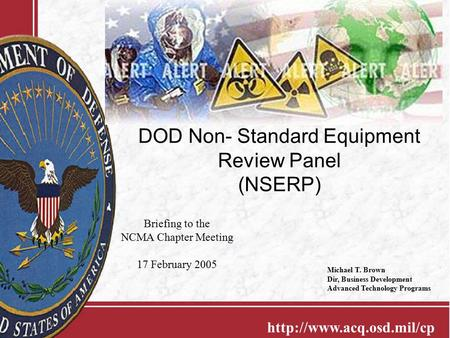 DOD Non- Standard Equipment Review Panel (NSERP)
