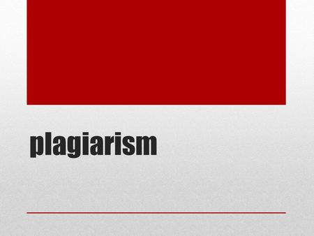 Plagiarism. How to avoid plagiarism When using sources in your papers, you can avoid plagiarism by knowing what must be documented. Specific words and.