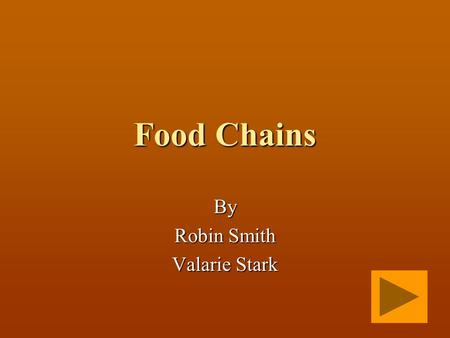 Food Chains By Robin Smith Valarie Stark. What is a Producer? A living thing that eats other living things. A living thing that makes its own food.