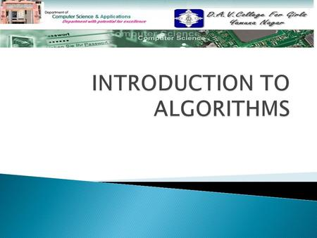  Definition Definition  Algorithmic Representation of Computer Functions Algorithmic Representation of Computer Functions  Algorithm Description Algorithm.