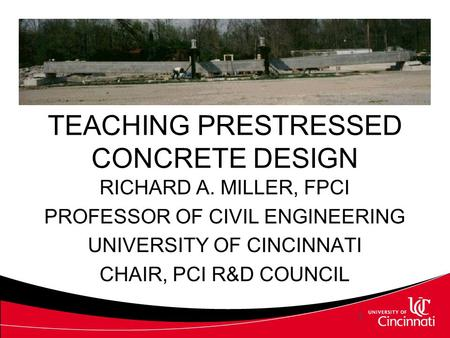 TEACHING PRESTRESSED CONCRETE DESIGN