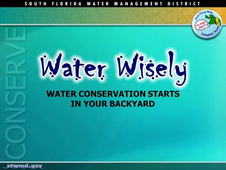 WATER CONSERVATION STARTS IN YOUR BACKYARD. 2 Life depends on water Nature's Water Cycle.