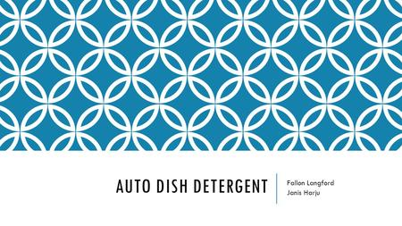 AUTO DISH DETERGENT Fallon Langford Janis Harju. CATEGORY ROLE  High Penetration in Households  Moderate Category Sales- $714,103,875  High percentage.