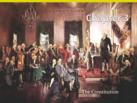 "The Constitution. The Constitution September 17, 1787 ""The supreme Law of the Land"" Organization Preamble Articles Amendments All 13 original colonies."