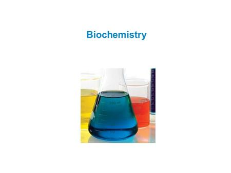 Biochemistry. Biochemistry: study of chemical composition and reactions of living matter  Inorganic compounds  Do not contain carbon  Water, salts,