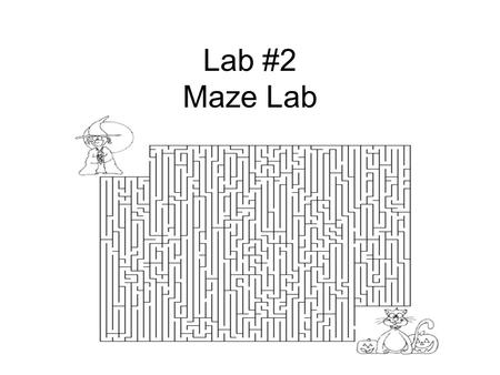 Lab #2 Maze Lab. Problem What variables can change the amount of time required to complete a maze?