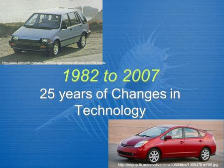 1982 to 2007 25 years of Changes in Technology