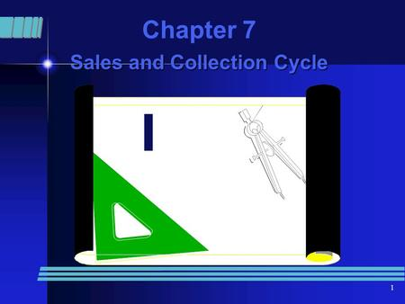 1 Chapter 7 Sales and Collection Cycle. 2 Business Process Making a sale and accounting for sale - related Decisions - what to sell, how, much to sell.