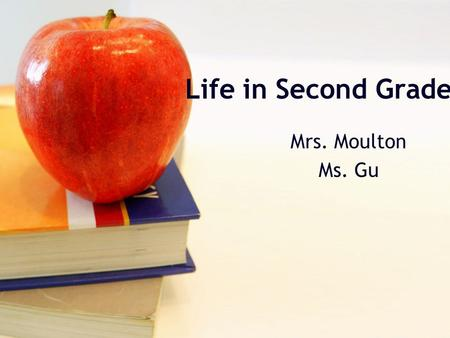 Life in Second Grade Mrs. Moulton Ms. Gu. Daily Schedule Block A (Mrs. Moulton) 8:10-8:15 Welcome/Morning Work 8:15-9:00 Challenge Team 9:00-10:00 Reading.
