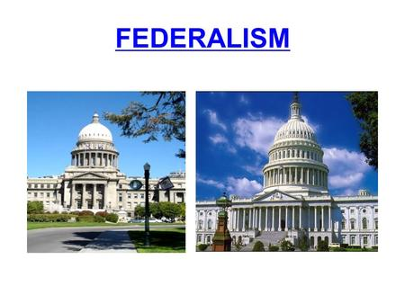FEDERALISM. Timeline of American Federalism 1781- Articles of Confederation 1788- Constitution ratified 1791- Bill of Rights ratified 1803- Louisiana.