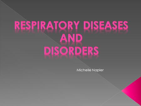 Michelle Napier. 1. Smoking and Respiratory Risks - Lung cancer- 23 times higher risk for males and 11 times higher risk for females - Chronic Bronchitis.