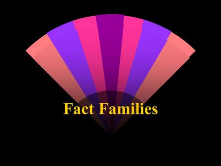 Fact Families. On the next 4 slides create examples of addition/subtraction fact families.