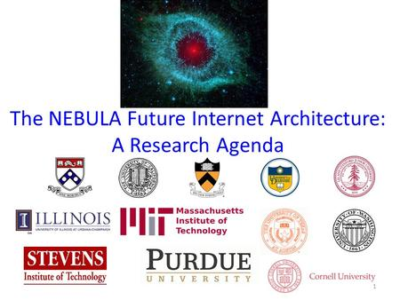 The NEBULA Future Internet Architecture: A Research Agenda 1.
