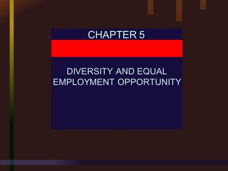 CHAPTER 5 DIVERSITY AND EQUAL EMPLOYMENT OPPORTUNITY.