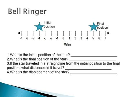 1.What is the initial position of the star? _______________________ 2.What is the final position of the star? _______________________ 3.If the star traveled.