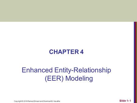 enhanced entity relationship and object modeling ppt