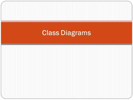 Class Diagrams. Terms and Concepts A class diagram is a diagram that shows a set of classes, interfaces, and collaborations and their relationships.