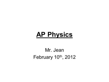 AP Physics Mr. Jean February 10 th, 2012. The plan: Diverging Mirrors Lenses.