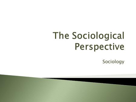 Sociology.  What does society look like?  What is sociology?  Levels of Analysis  The Sociological Perspective  Starting your sociological journey.