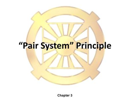 """Pair System"" Principle Chapter 3. Mind & BodyMan & Woman + - Masculine Feminine Internal Nature External Form 2 Dual Characteristics ""Dual Purpose"" Principle."