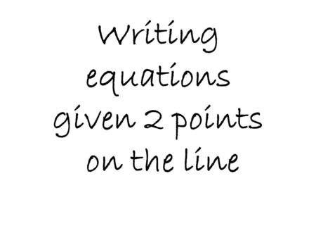 Equation of a Line Worksheets | Linear Equation