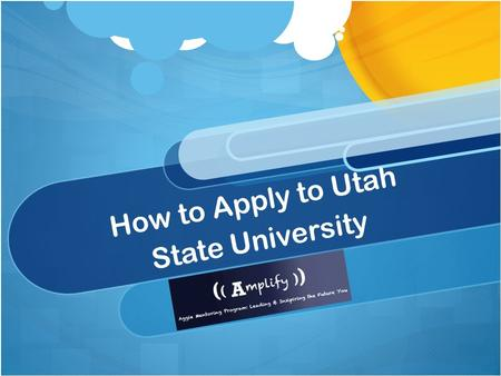 How to Apply to Utah State University. Deadlines Fall Semester: April 1 Spring Semester: October 1 Summer Semester: April 1.