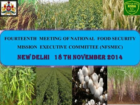 FOURTEENTH MEETING OF NATIONAL FOOD SECURITY MISSION EXECUTIVE COMMITTEE (NFSMEC) New Delhi 18 th November 2014.
