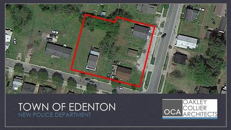 TOWN OF EDENTON NEW POLICE DEPARTMENT. XXXX Aerial.