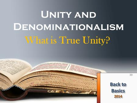 Unity and Denominationalism
