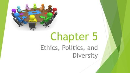 Chapter 5 Ethics, Politics, and Diversity. Ethics, politics and diversity at work  Power and politics are routinely used in workplace relationships.