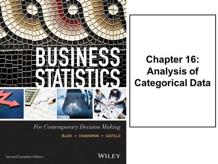 Chapter 16: Analysis of Categorical Data. LO1Use the chi-square goodness-of-fit test to analyze probabilities of multinomial distribution trials along.