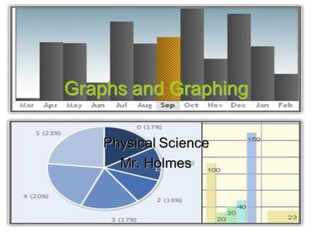 Graphs and Graphing Physical Science Mr. Holmes Graphs A graph is a visual display of information or data. Graphs are useful for displaying numerical.