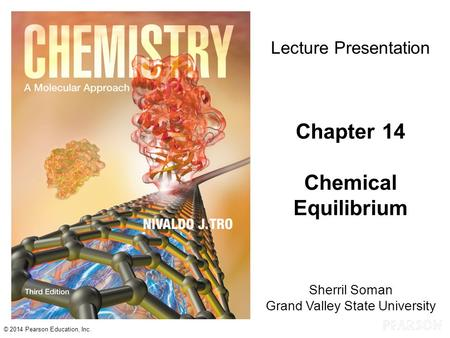 Chapter 14 Lecture © 2014 Pearson Education, Inc. Sherril Soman Grand Valley State University Lecture Presentation Chapter 14 Chemical Equilibrium.