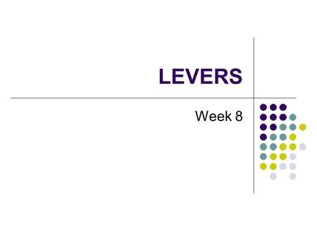 LEVERS Week 8. What are Levers? A simple machine that transmits and changes mechanical energy from one place to another Everyday life examples: Pliers.