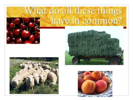 What do all these things have in common?. Utah Farming, Ranching, & Energy.