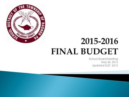 School Board Meeting May 26, 2015 Updated 5/27, 2015.