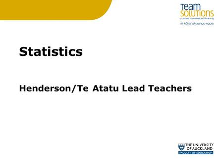 Statistics Henderson/Te Atatu Lead Teachers. PAT Y6 Question (time-series data) Emma went for a run from home. She stopped for a while and then walked.