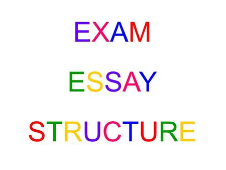 EXAMESSAYSTRUCTUREEXAMESSAYSTRUCTURE. THESIS STATEMENT: Your thesis statement is what your essay is going to do in general terms. In many ways it restates.