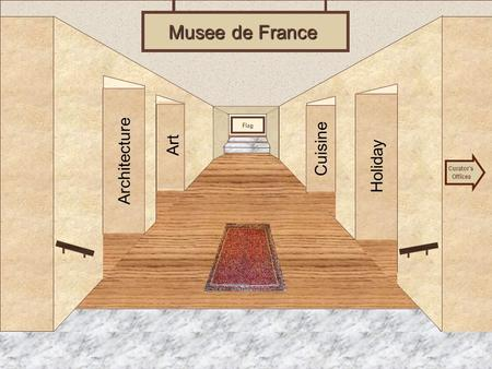 Museum Entrance Architecture Art Holiday Cuisine Musee de France Curator's Offices Flag.