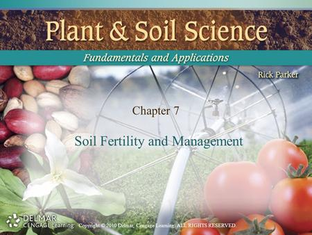 Copyright © 2010 Delmar, Cengage Learning. ALL RIGHTS RESERVED. Chapter 7 Soil Fertility and Management.