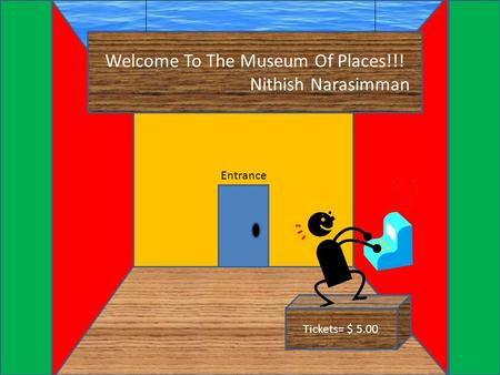 Welcome To The Museum Of Places!!! Nithish Narasimman Entrance Tickets= $ 5.00.