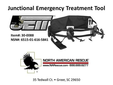 Junctional Emergency Treatment Tool