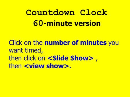 Countdown Clock 60-minute version