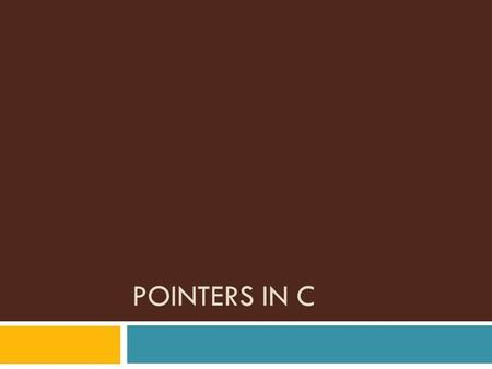 POINTERS IN C. Introduction  A pointer is a variable that holds a memory address  This address is the location of another object (typically another.