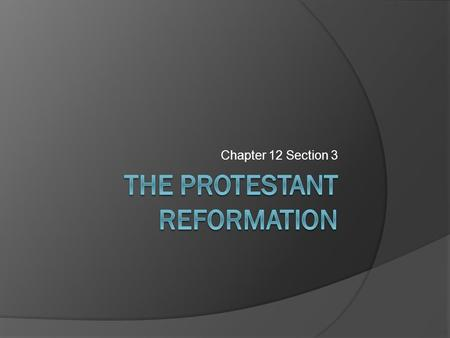 Chapter 12 Section 3. Erasmus and Christian Humanism  Christian humanism (N. Renaissance humanism) Primary goal was to reform the Catholic Church Major.