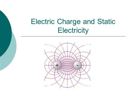 Electric Charge and Static Electricity. Law of Electric Charges  The law of electric charges states that like charges repel, and opposite charges attract.