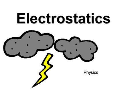 Electrostatics Physics. What is electrostatics? Electricity at rest Electricity at rest Involves forces and behaviors of electric charges Involves forces.
