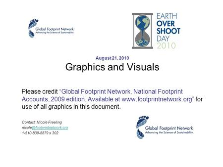 "August 21, 2010 Graphics and Visuals Please credit ""Global Footprint Network, National Footprint Accounts, 2009 edition. Available at www.footprintnetwork.org"""