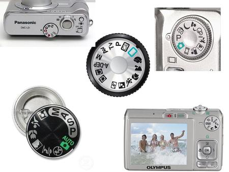"Auto Modes ""P,"" ""A,"" & ""S""  Program- Automatic, no flash  Aperture Priority- You choose the Aperture (size of shutter opening) and the camera chooses."