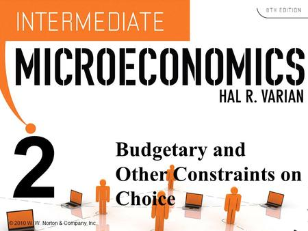 © 2010 W. W. Norton & Company, Inc. 2 Budgetary and Other Constraints on Choice.